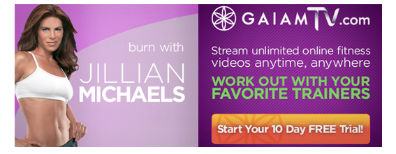 Yoga Fitness Banner Ad Designs For Gaiam Tv