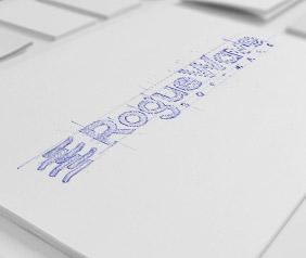 oblique logo design process for roguewave software