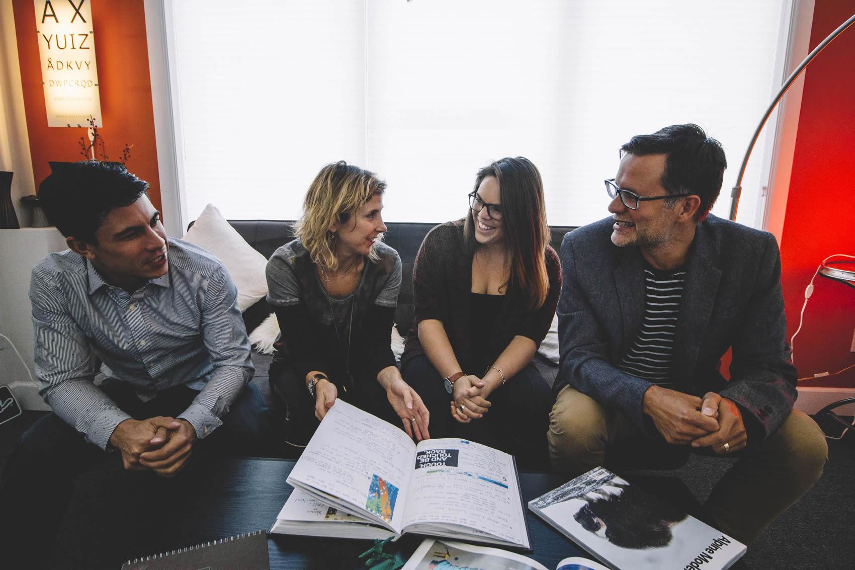 oblique design team meeting