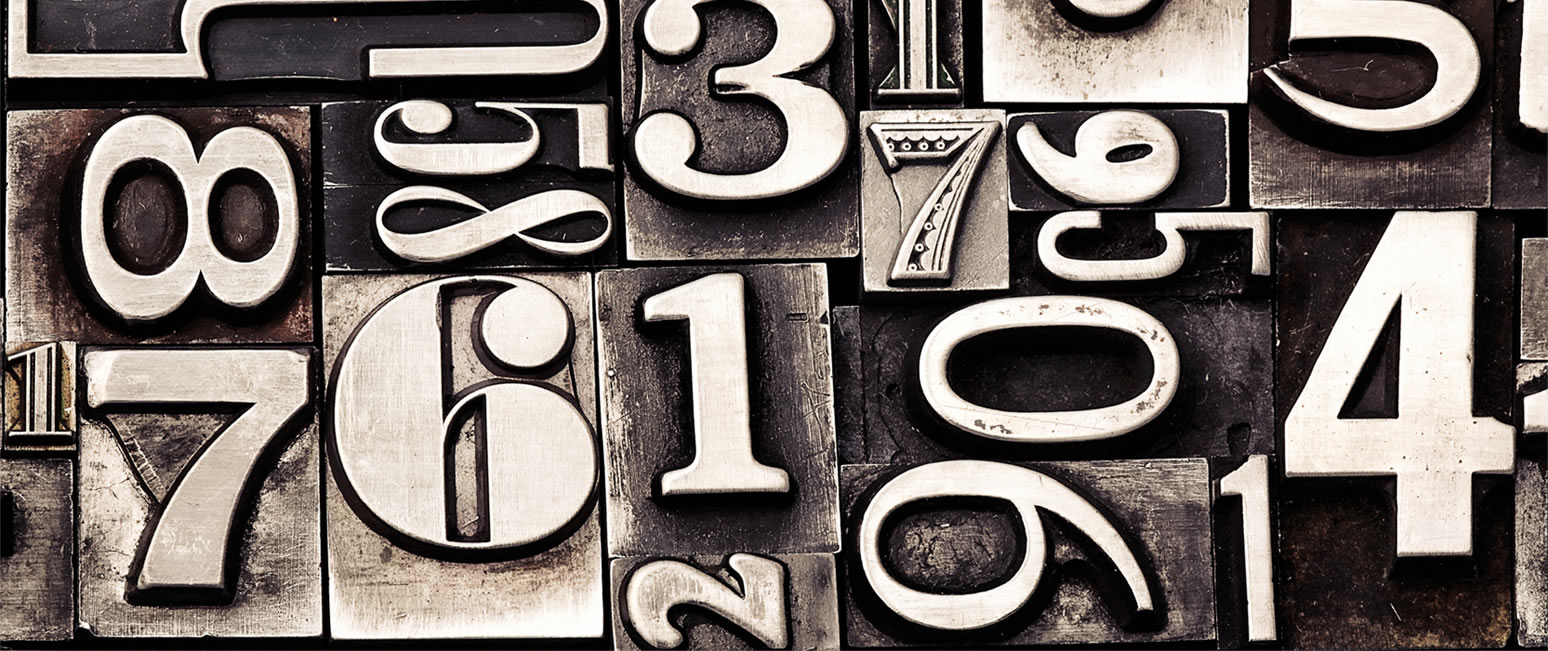 numbers for printing press