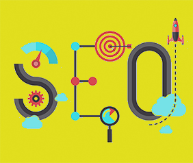 seo letters made of objects