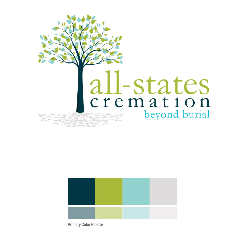 all states cremation logo design