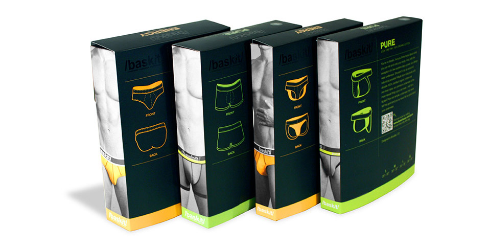 rear of baskit packaging design