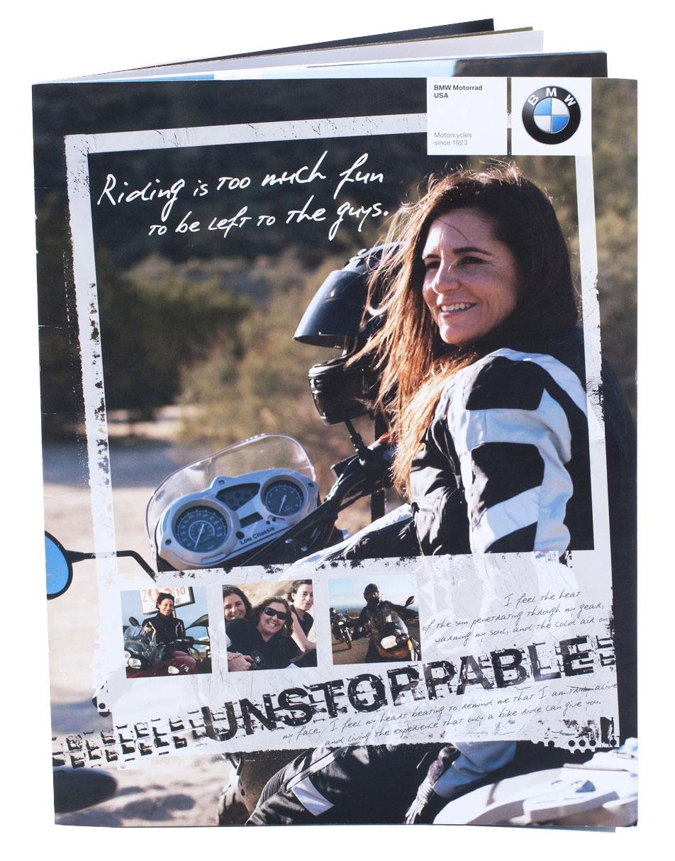 front of BMW Motorrad catalog