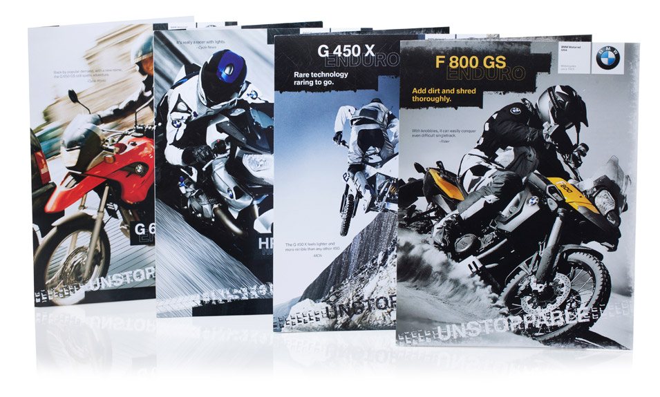 brochure design for bmw motorrad