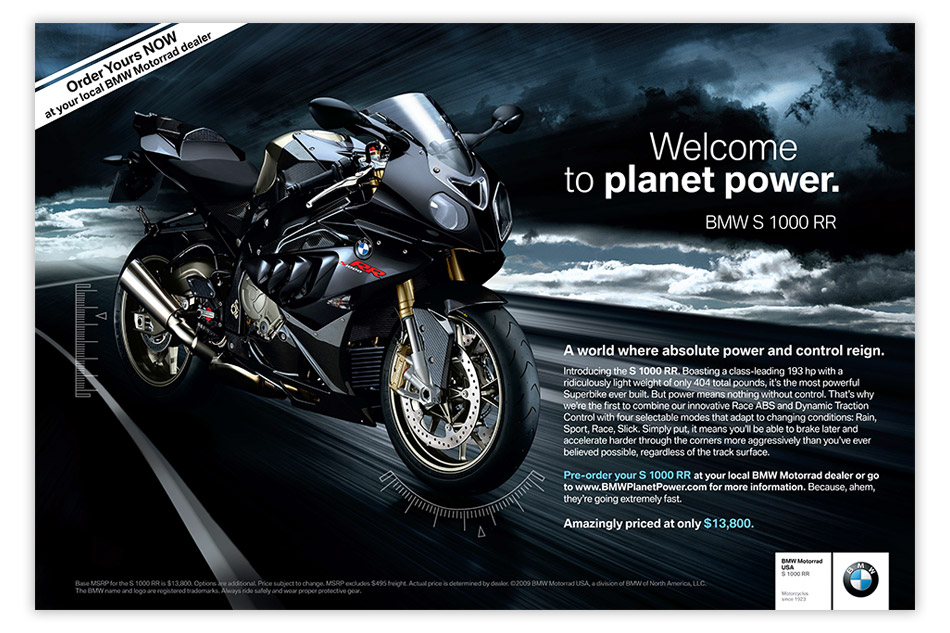 bmw motorrad usa bike ad by oblique design