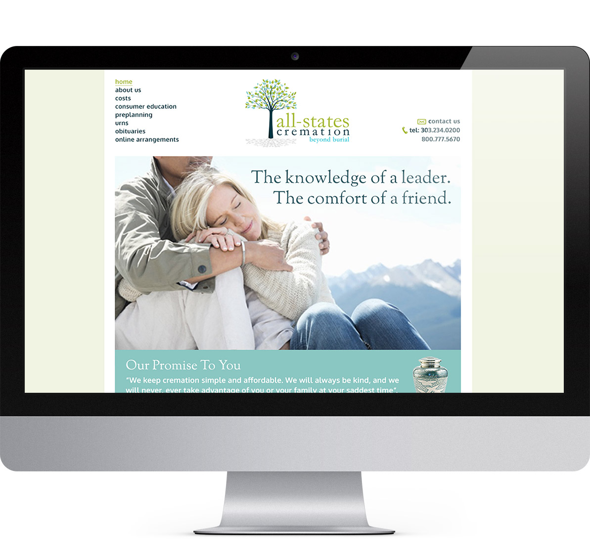 website redesign for all states cremation