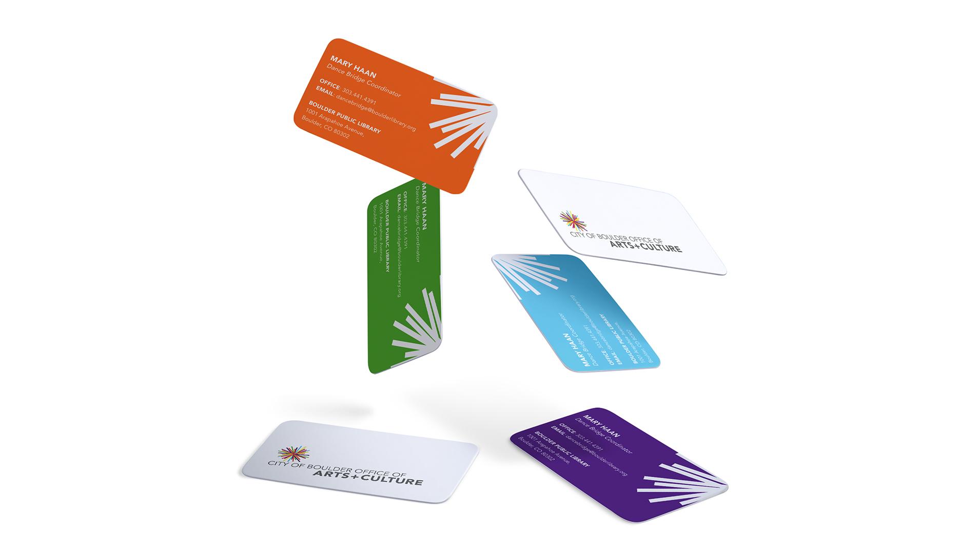 boulder business card design for city of boulder