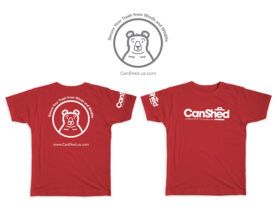 canshed logo on shirts