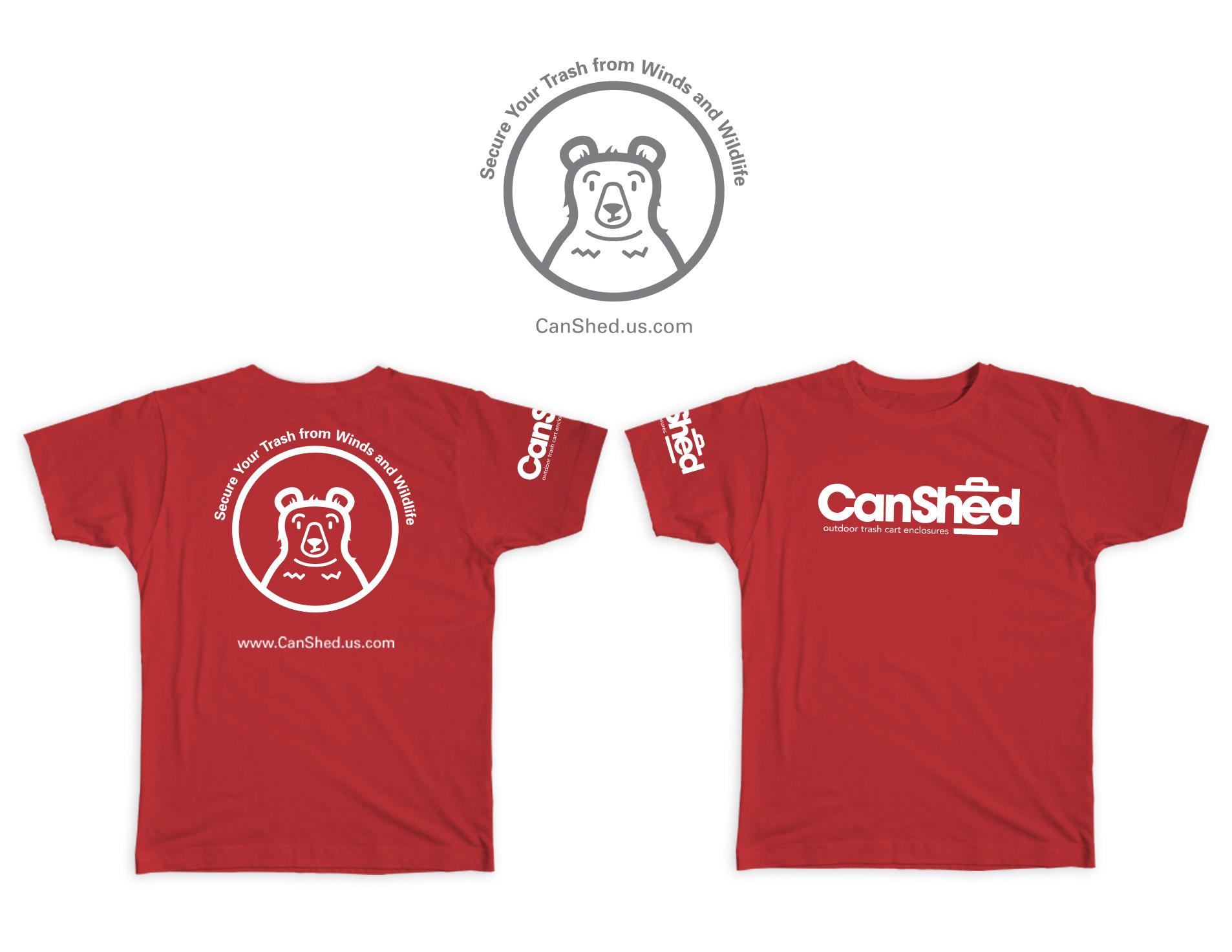 canshed logo on shirts