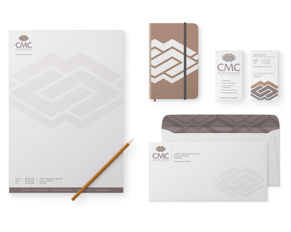 stationery design for cmc