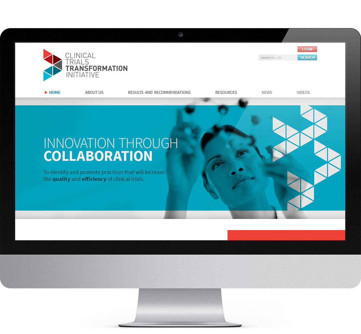 desktop website design for ctti