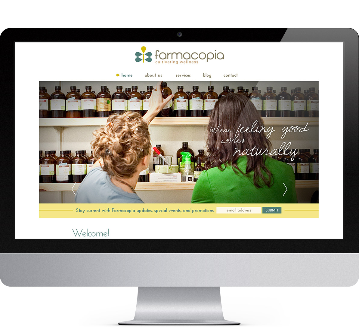 home page design for farmacopia