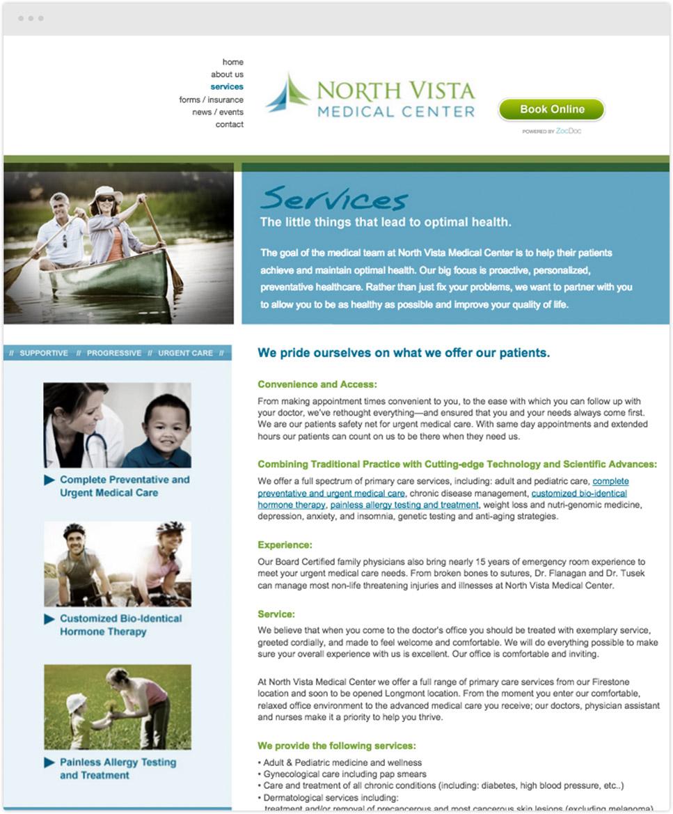 website design for north vista