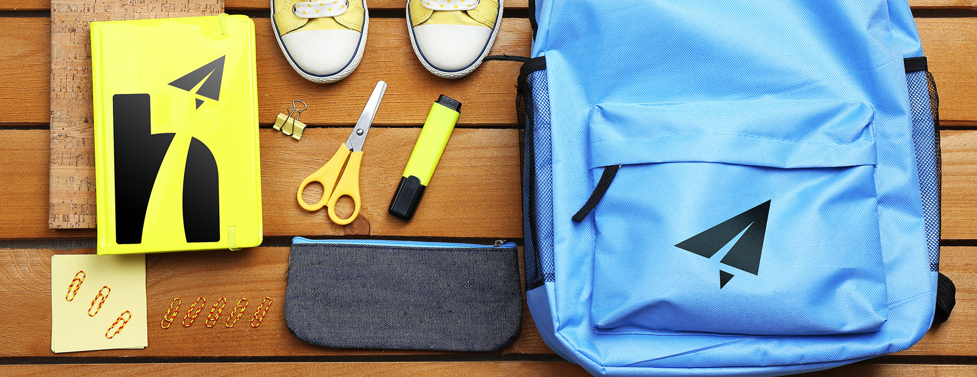 school supplies and backpack