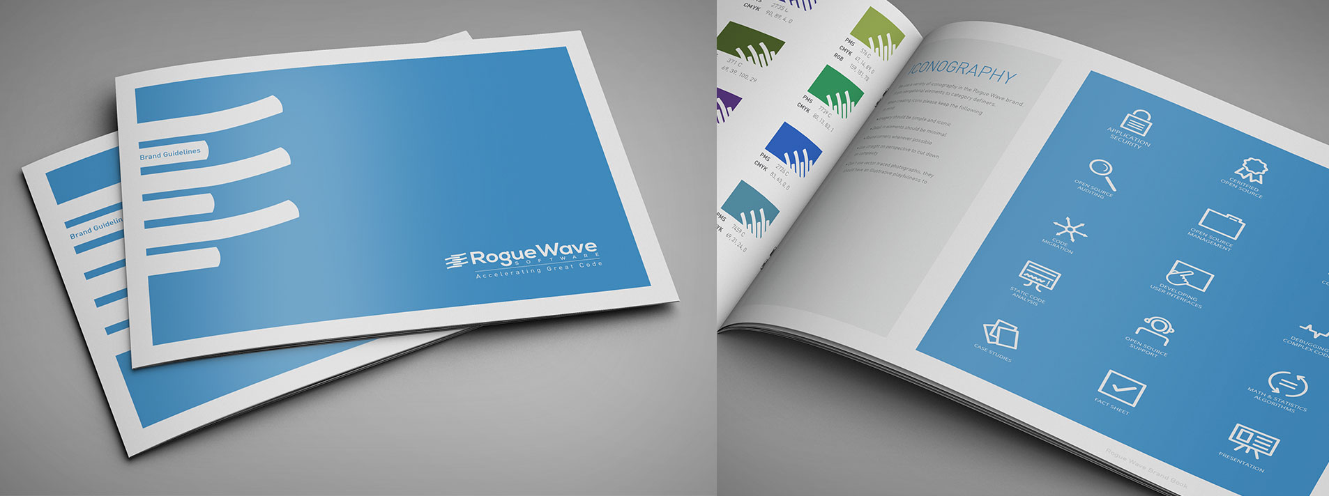 print design project for rogue wave