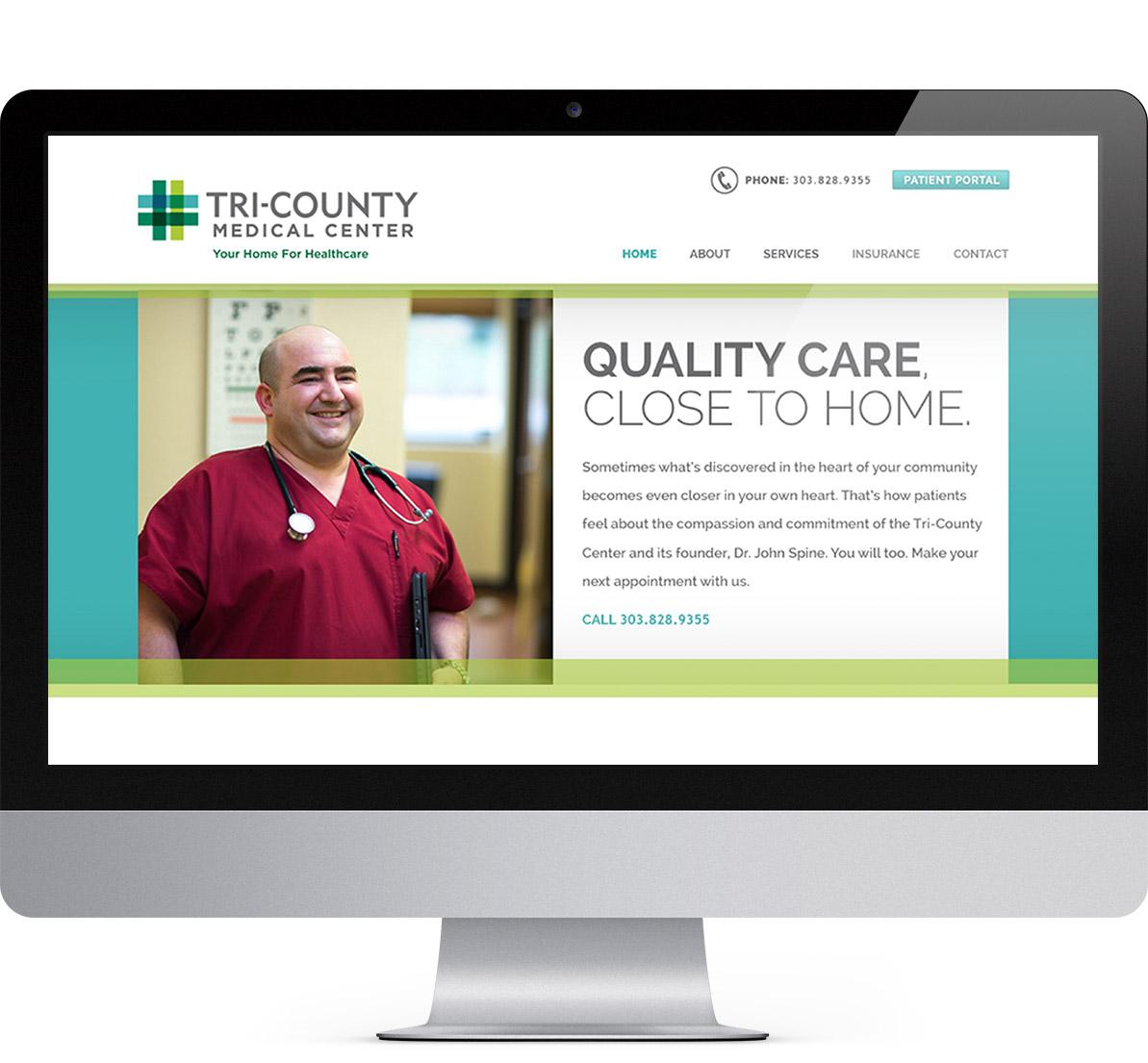 desktop website design for tri-county