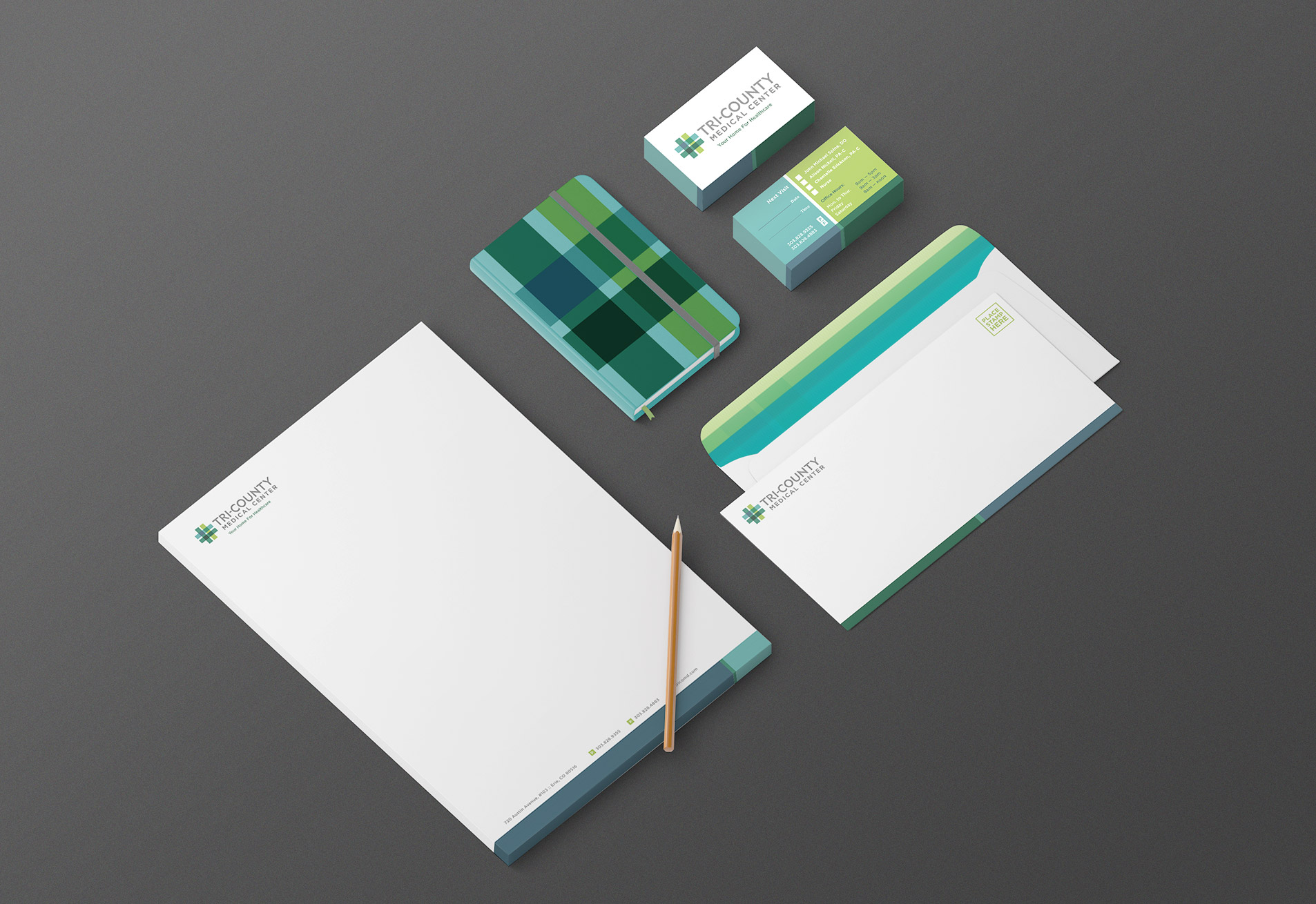 stationery design for tri-county