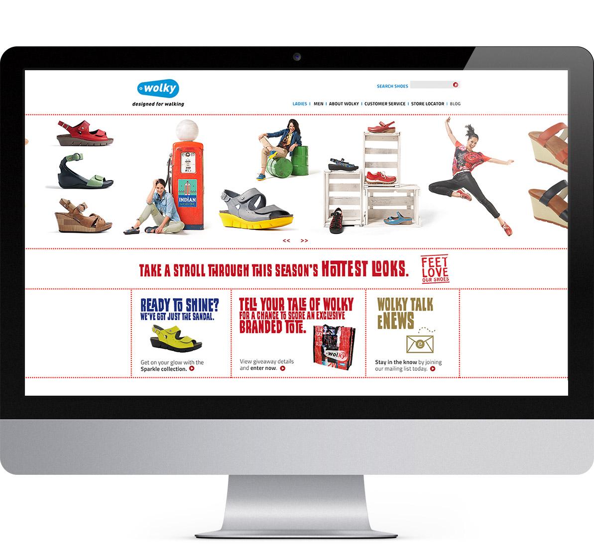 wolky desktop website design