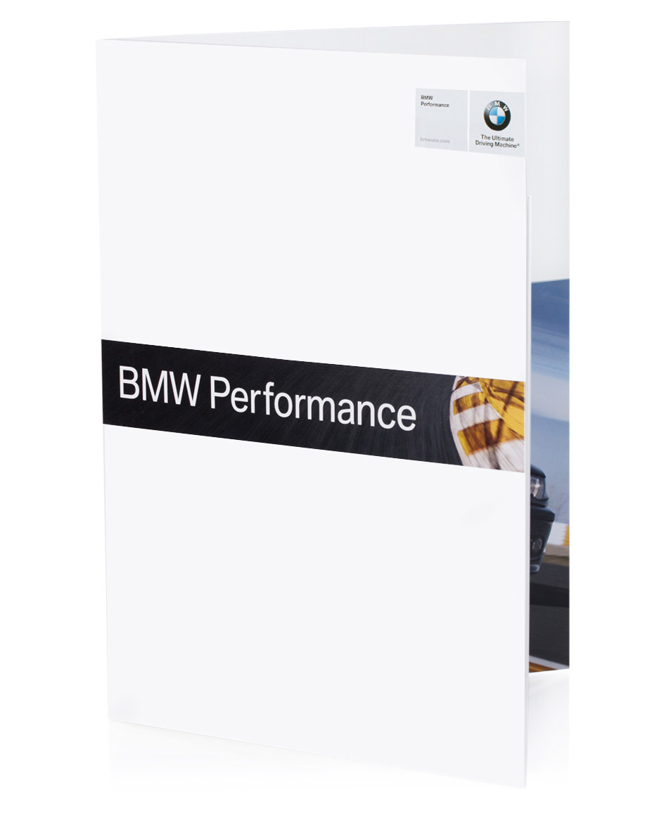 front of sales kit for bmw