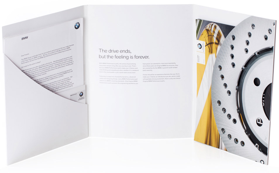 marketing material folder for bmw
