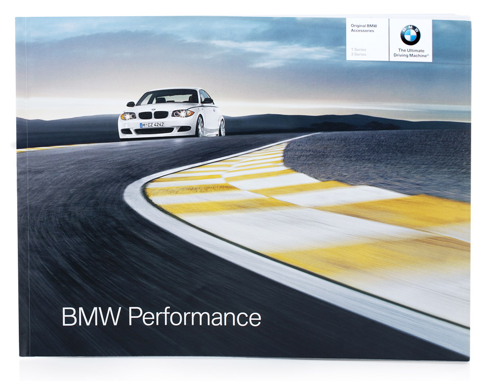 front of brochure material for bmw