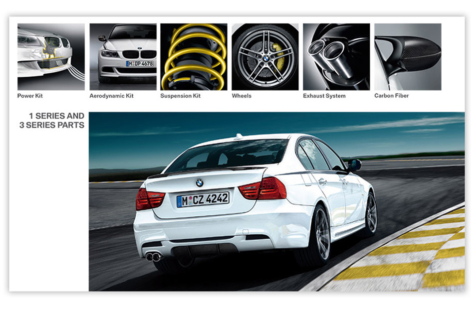 interior of sales kit for bmw