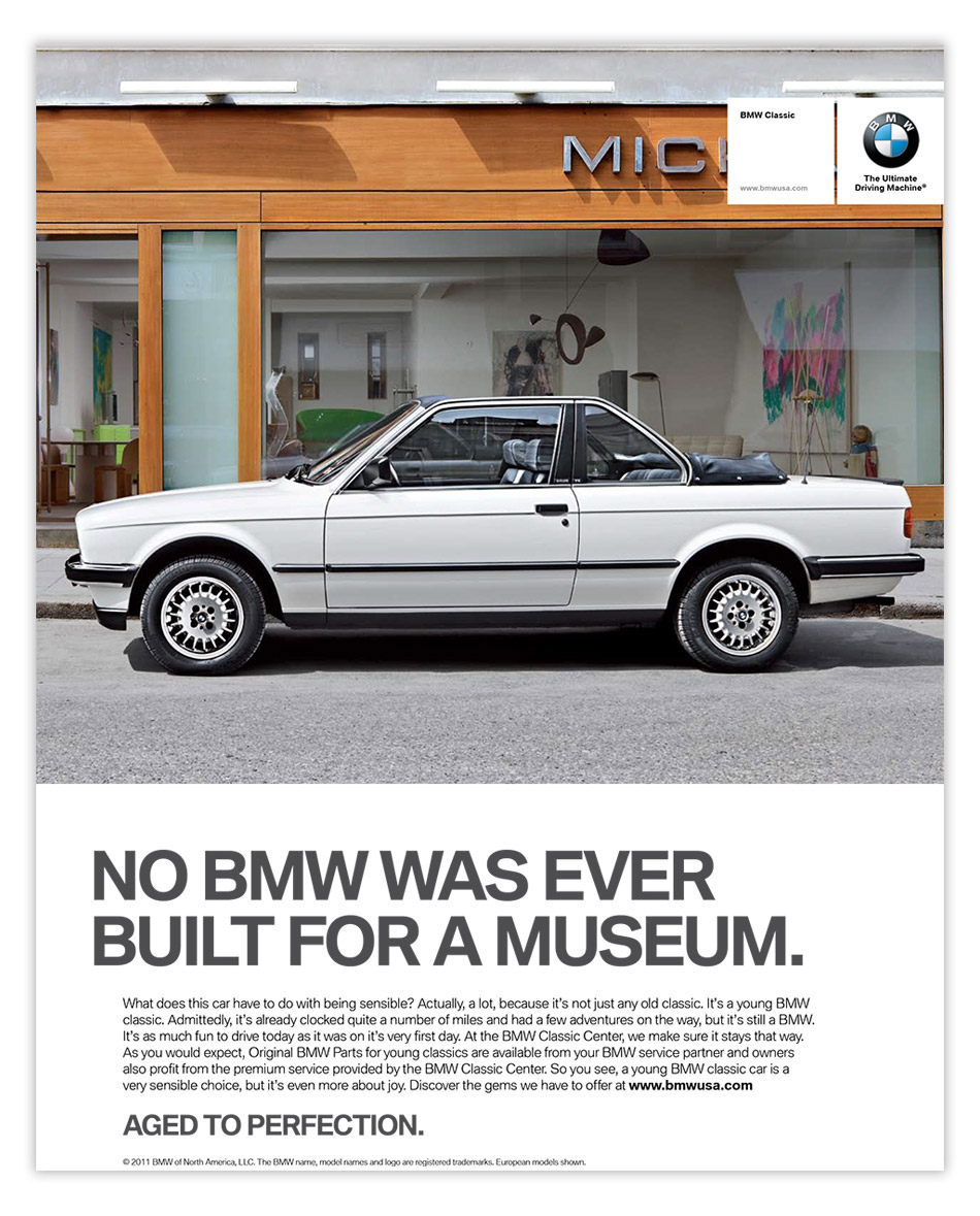 bmw marketing material