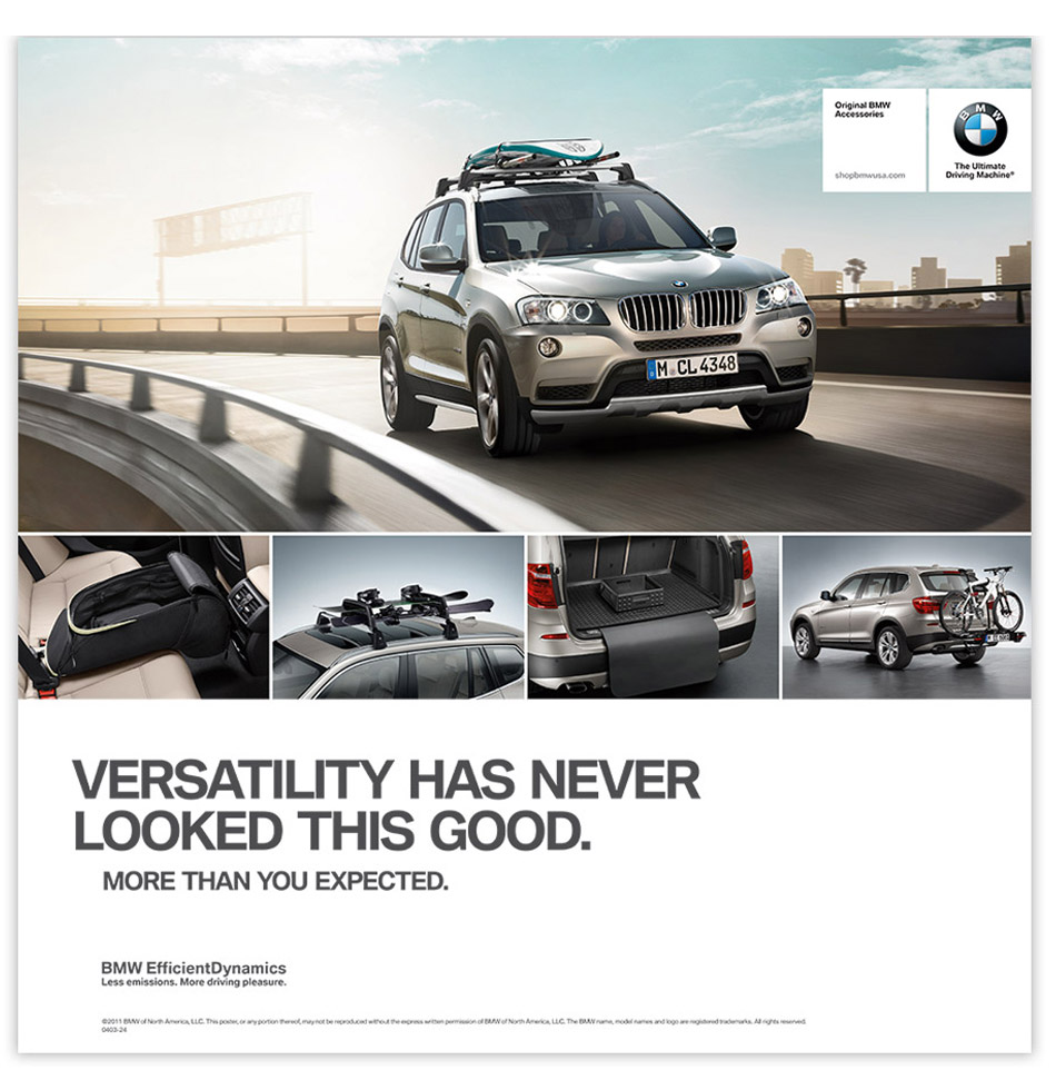 bmw accessories by oblique design