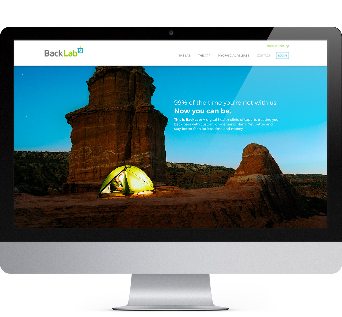 home page design for backlab