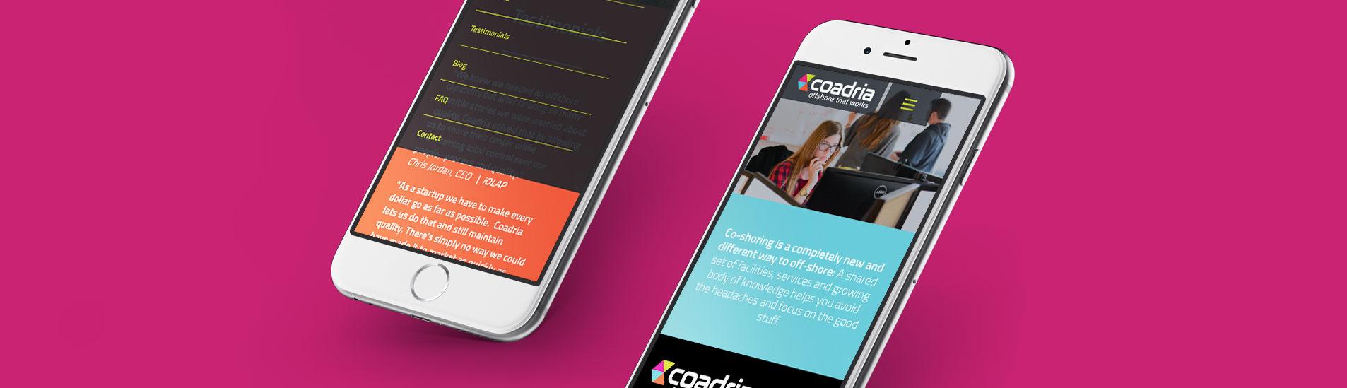 mobile website design for coadria