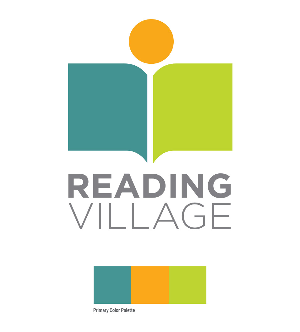 oblique logo design for reading village