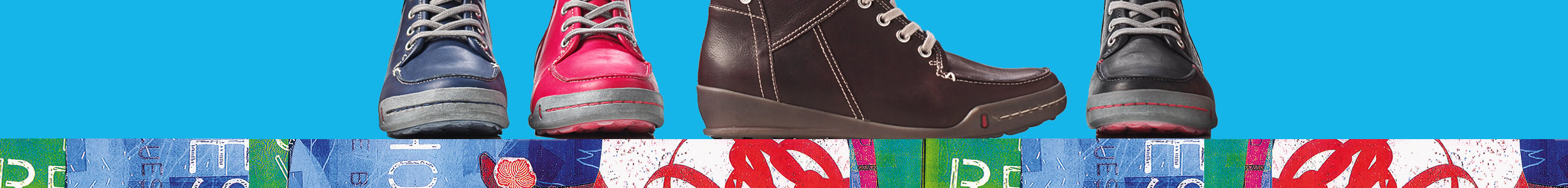 wolky shoes banner design