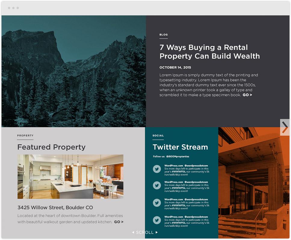 boom website design project