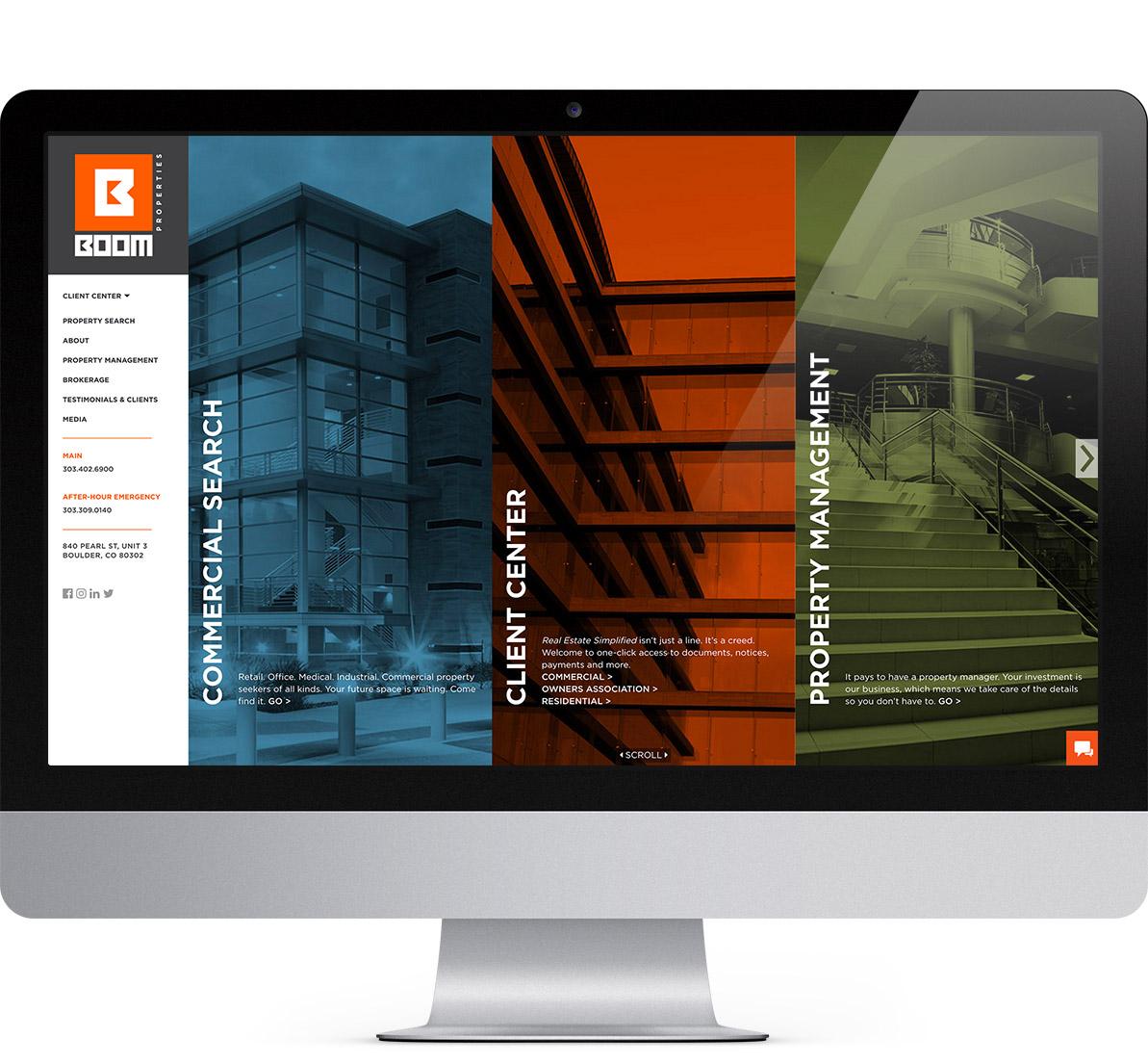 boom real estate website design