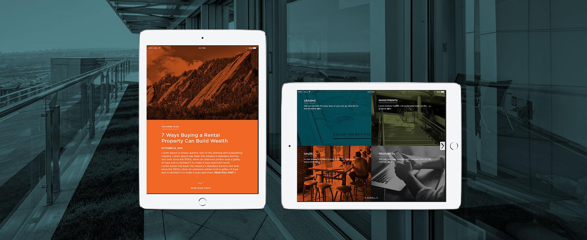 mobile website designs for boom properties