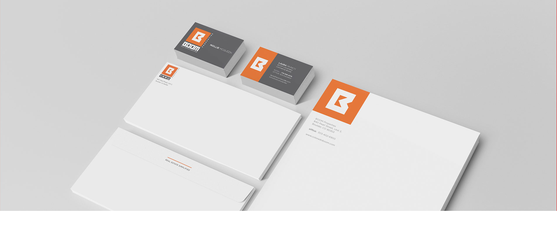 stationery designs for boom properties