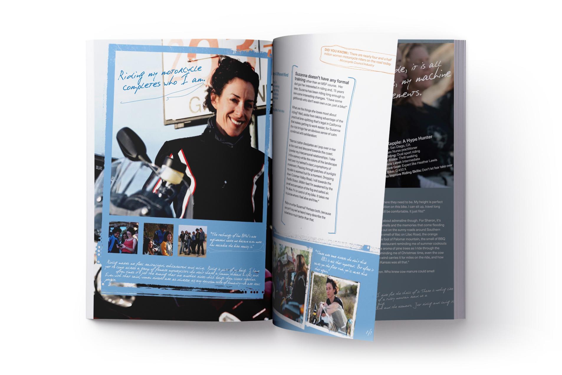 bmw brochure feature female rider