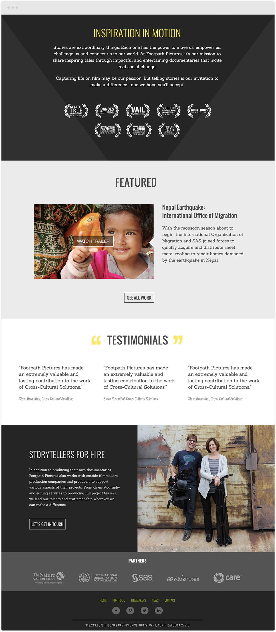 website design for footpath