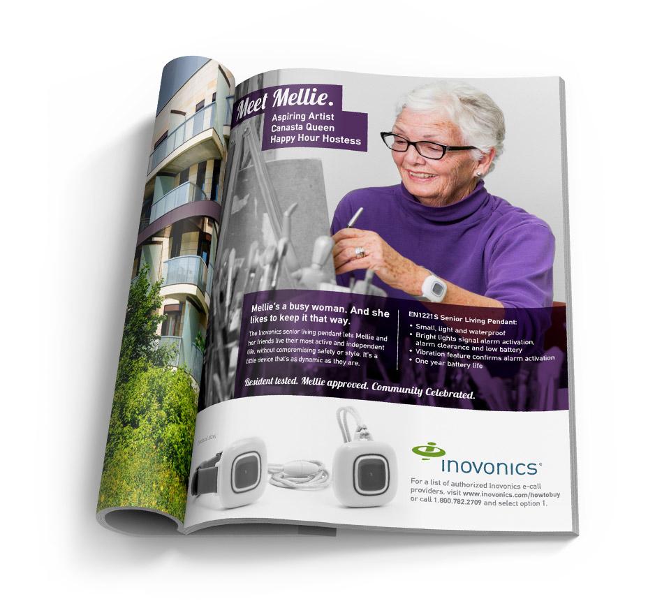 print ad design for inovonics