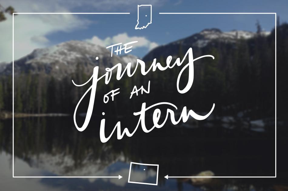 mountain scene, journey of a design intern