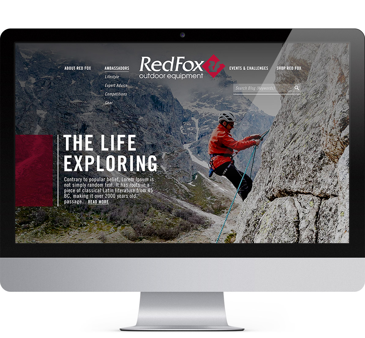 website redesign project for redfox