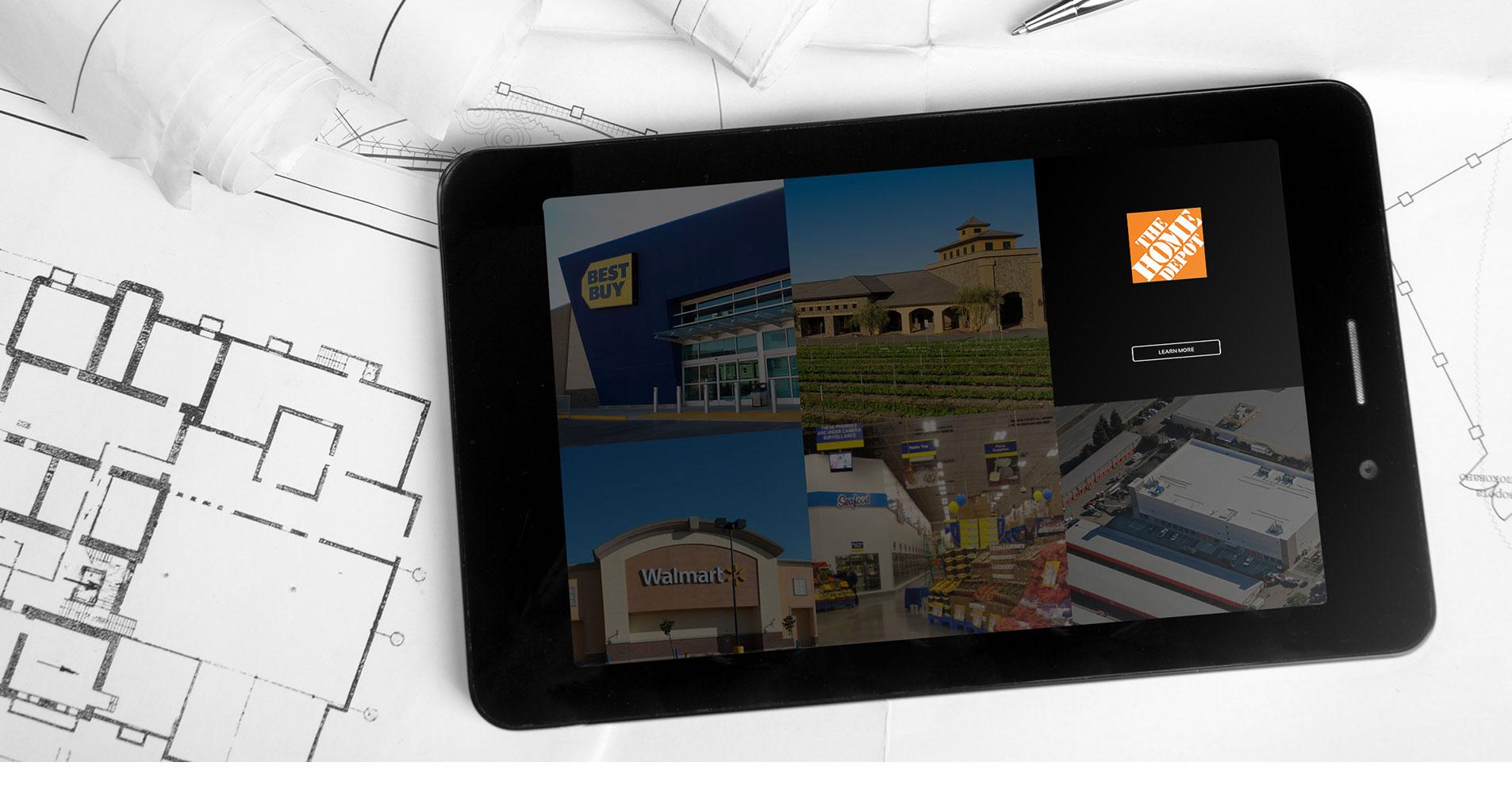 mobile website design for shames construction