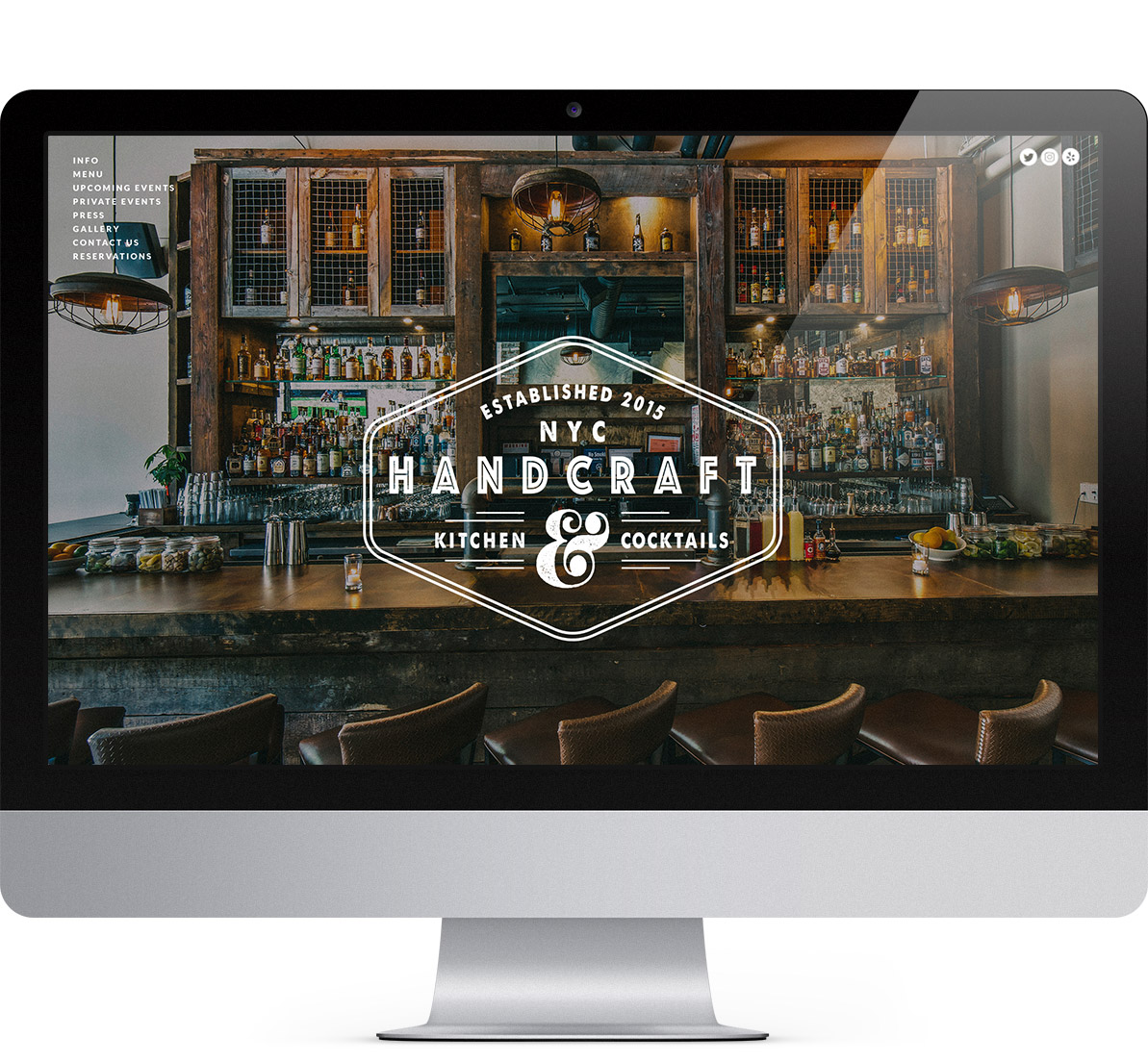 restaurant website for handcraft