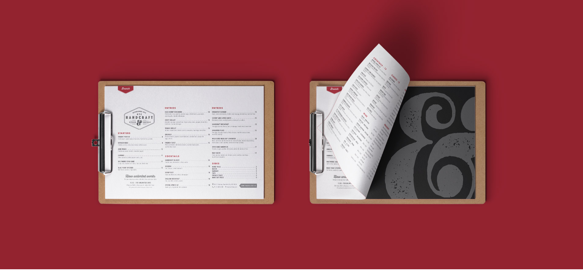 menu design examples for restaurant