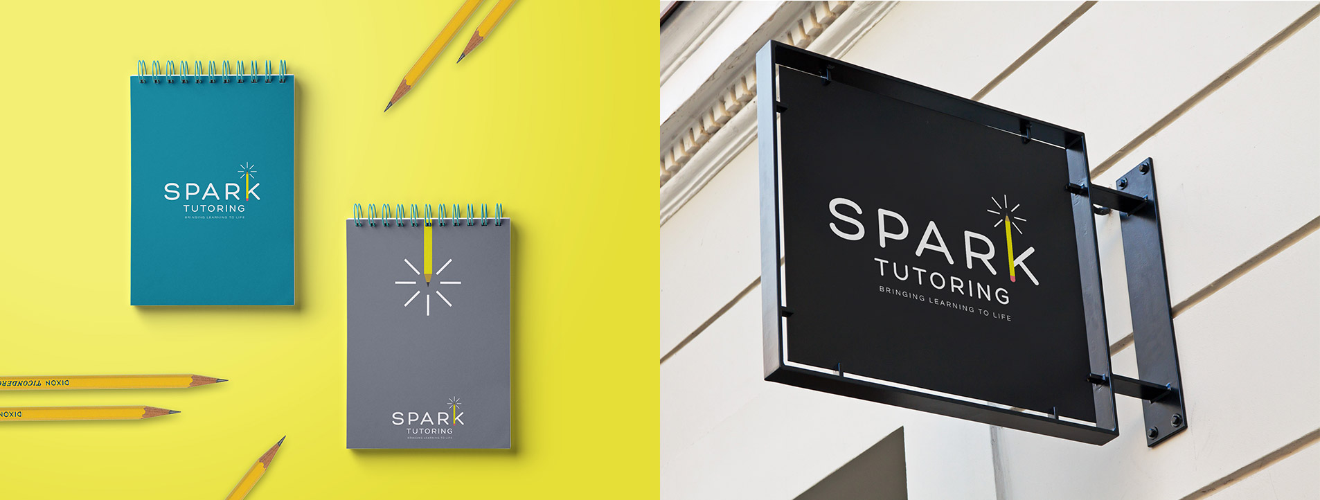 logo design for spark tutoring