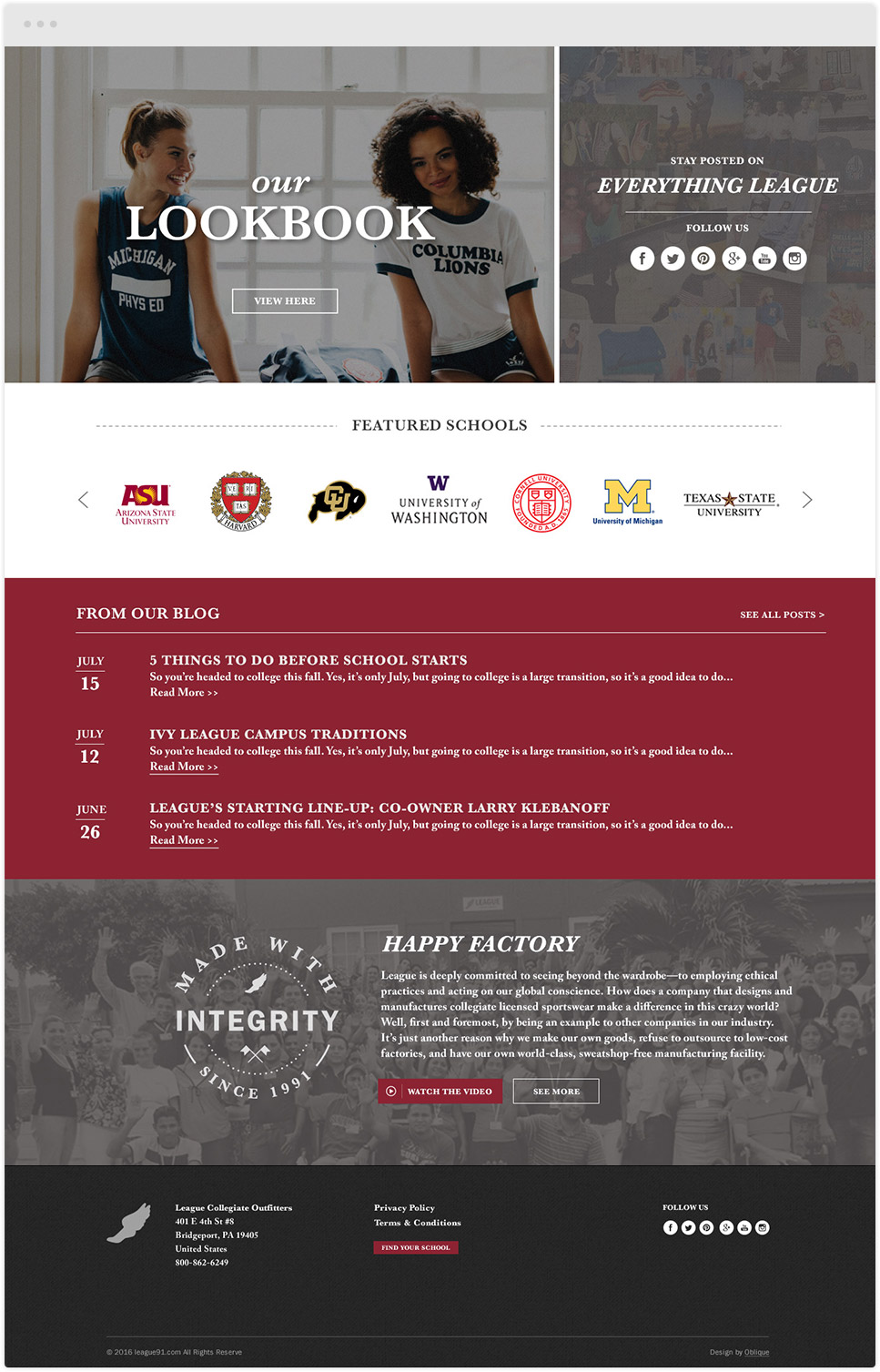 league collegiate outfitters lookbook
