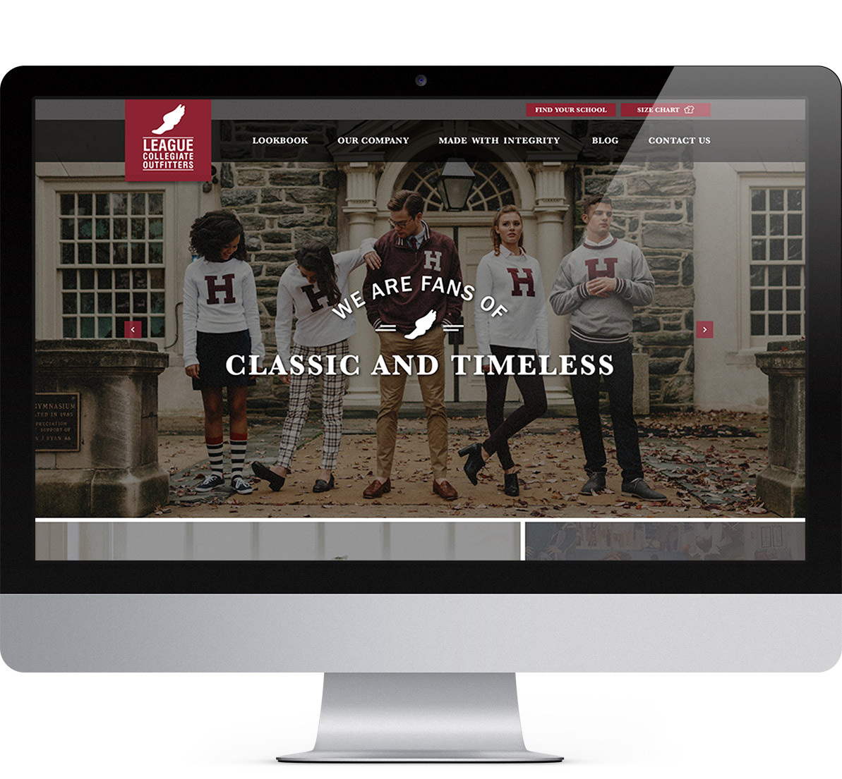 colorado web design project for league collegiate outfitters