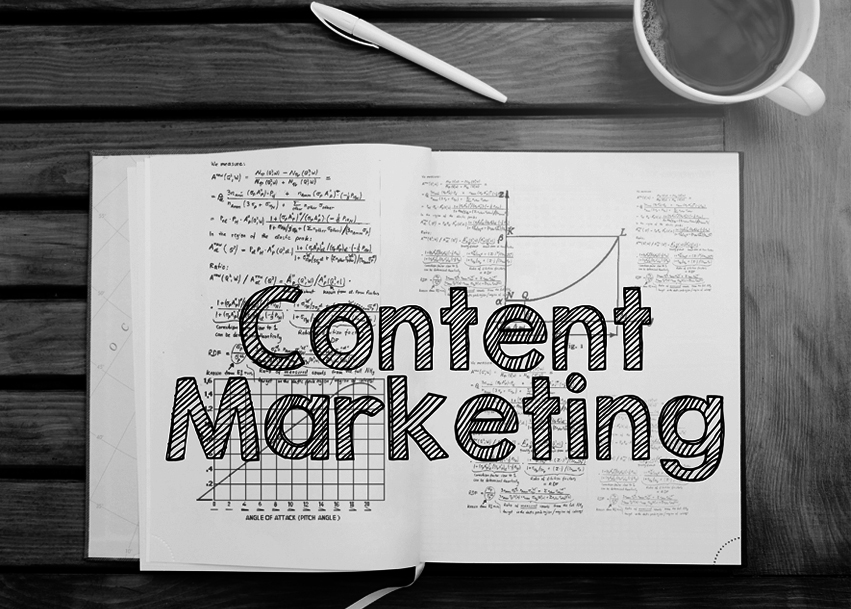 notebook reading content marketing