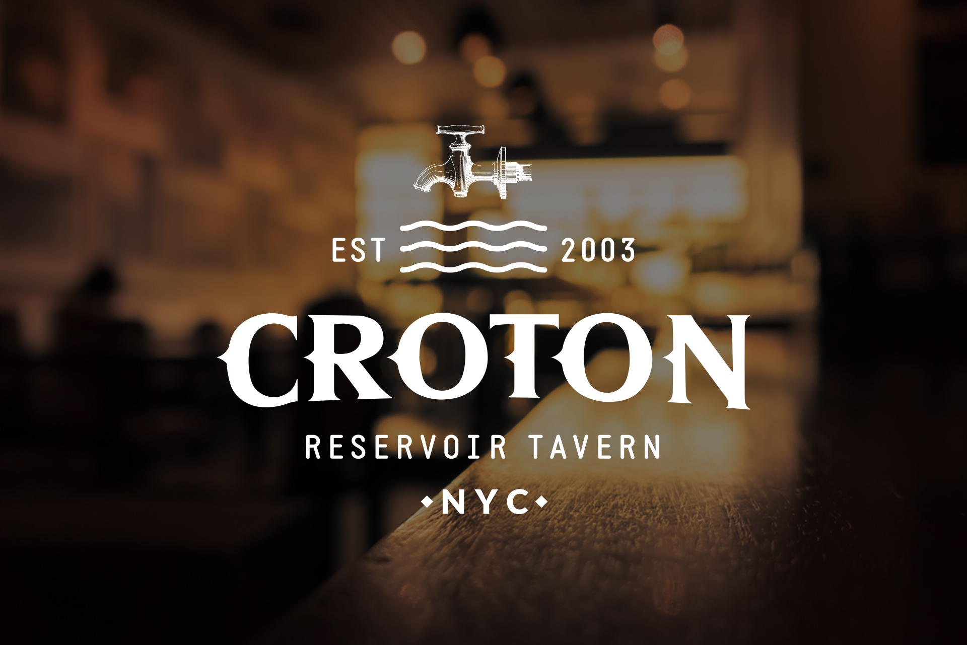 logo design for croton reservoir tavern